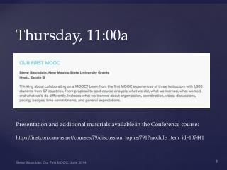 Thursday, 11:00a
