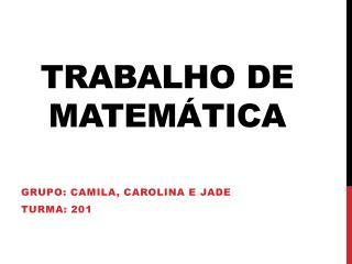 Trabalho de matem�tica