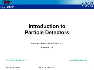 Introduction to  Particle Detectors