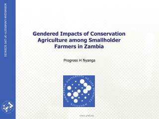 Gendered Impacts of Conservation Agriculture among Smallholder Farmers in  Zambia