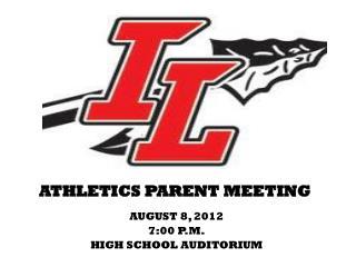 ATHLETICS PARENT MEETING