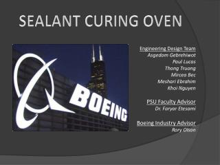 SEALANT CURING OVEN