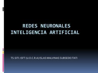 REDES NEURONALES INTELIGENCIA ARTIFICIAL
