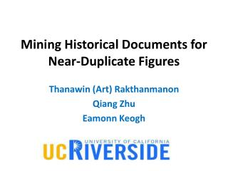 Mining Historical Documents for  Near-Duplicate Figures
