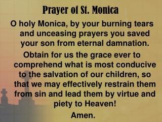 Prayer of St. Monica