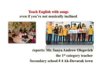 Teach English with songs  even if you�re not musically inclined