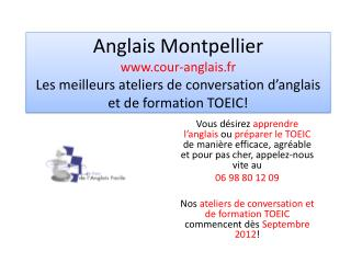 Anglais Montpellier