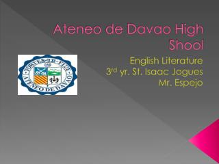 Ateneo  de Davao High  Shool