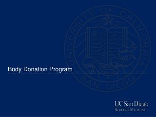 Body Donation Program
