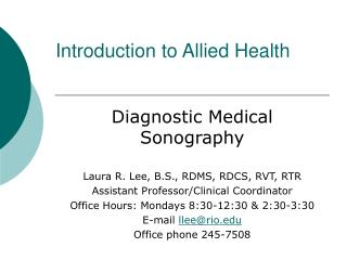 Introduction to Allied Health