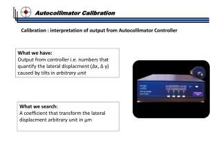 Autocollimator Calibration