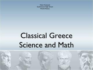 Classical Greece Science and Math