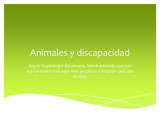 Animales y discapacidad