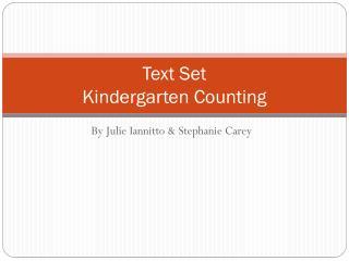 Text Set Kindergarten Counting