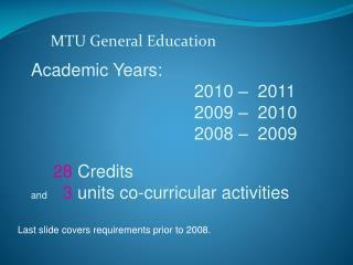 MTU General Education