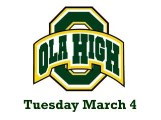 Tuesday March  4