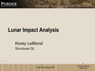 Lunar Impact Analysis