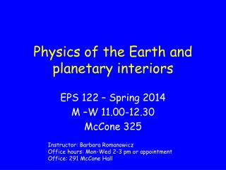 Physics of the Earth and planetary interiors