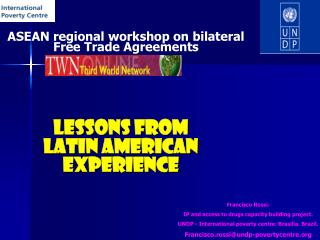 ASEAN regional workshop on bilateral Free Trade Agreements