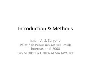 Introduction & Methods