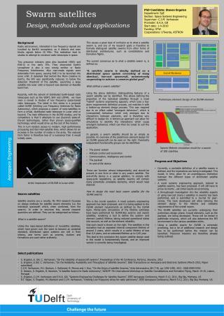 Swarm satellites Design, methods and applications