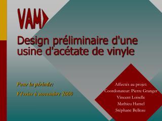 Design pr liminaire dune usine dac tate de vinyle