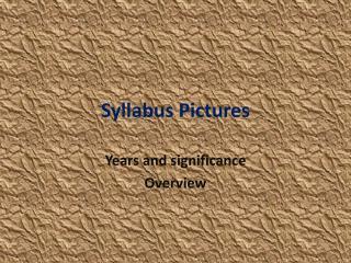 Syllabus Pictures