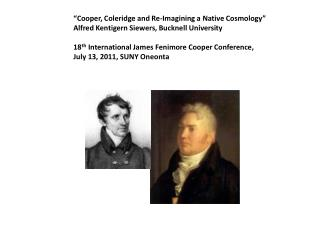 """Cooper, Coleridge and Re-Imagining a Native Cosmology"""