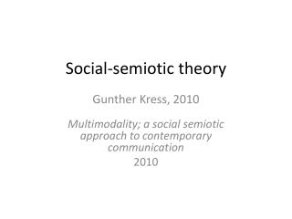 Social-semiotic theory