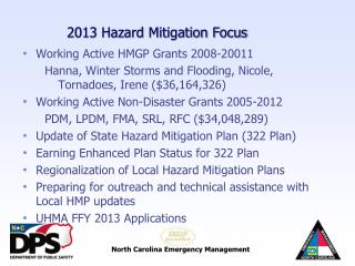 2013 Hazard Mitigation Focus