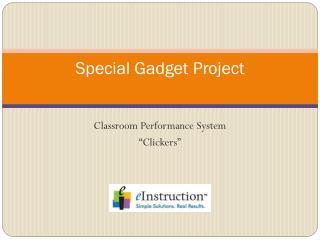 Special Gadget Project