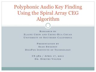 Polyphonic Audio Key Finding Using the Spiral Array CEG Algorithm