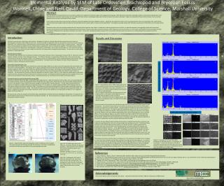 Elemental Analysis by SEM of Late Ordovician Brachiopod and Bryozoan Fossils Wonnell, Chloe and Neff, David. Department