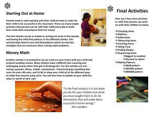 Final Activities
