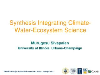 Synthesis Integrating Climate-Water-Ecosystem Science