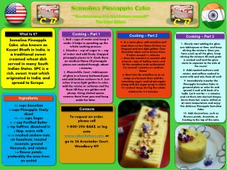 """Semolina Pineapple Cake  """"The  Cakers  are the best bakers around!"""" The Caker Bakers"""
