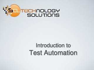 Test Automation PPT