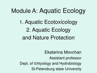 Module A: Aquatic Ecology