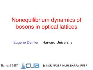Nonequilibrium dynamics of bosons in optical lattices