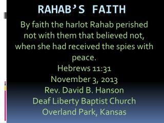 Rahab's  Faith