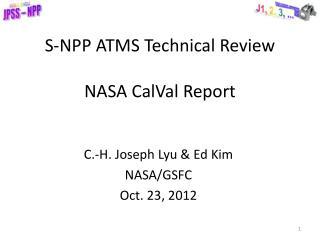 S-NPP ATMS Technical Review NASA  CalVal  Report