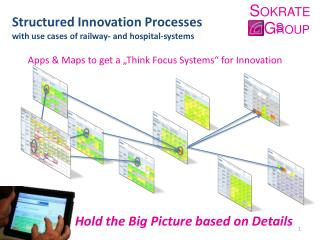 Structured Innovation Processes with use cases  of  railway - and  hospital - systems