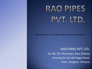 RAO PIPES PVT. LTD.