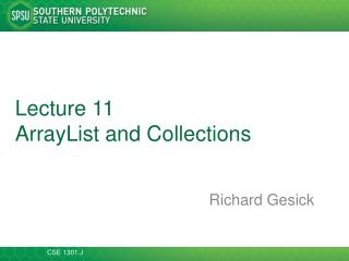 Lecture  11 ArrayList  and Collections