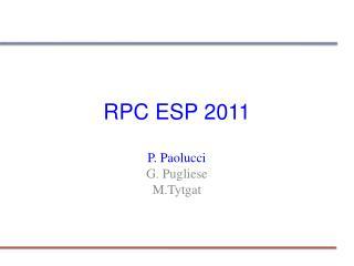 RPC ESP 2011