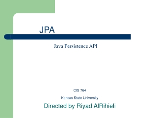 Java Persistence: Object Inheritance Mapping