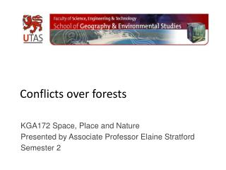 Conflicts over forests