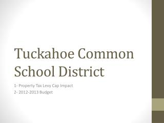 Tuckahoe Common School District