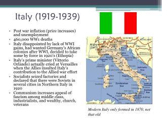 Italy (1919-1939)