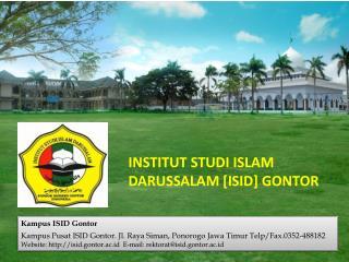 INSTITUT STUDI  ISLAM DARUSSALAM [ ISID ]  GONTOR